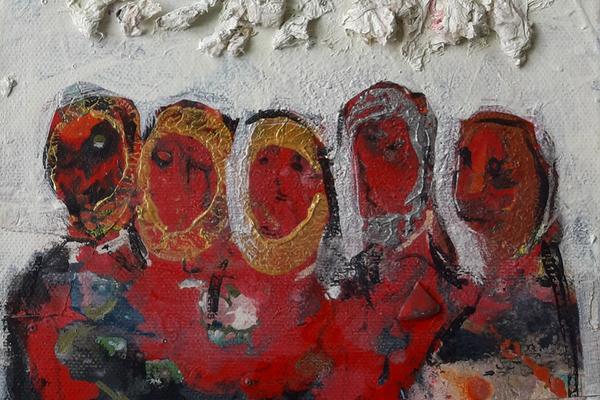 Humanitära stationer-måleri av Faruk Omer