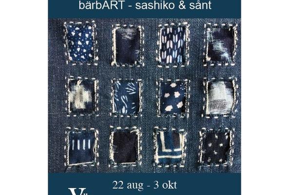 Utställning: bärbART - sashiko & sånt