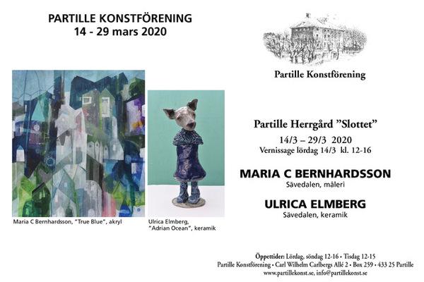 Vernissage på Slottet/ Partille Herrgård med Maria C Bernhardsson och Ulrica Elmberg