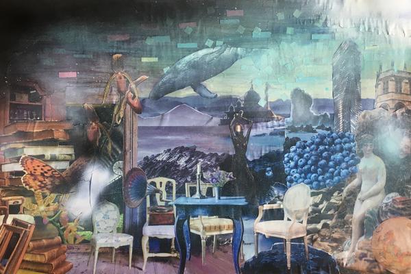 Utställning: collagekonst Yvette Gustafsson