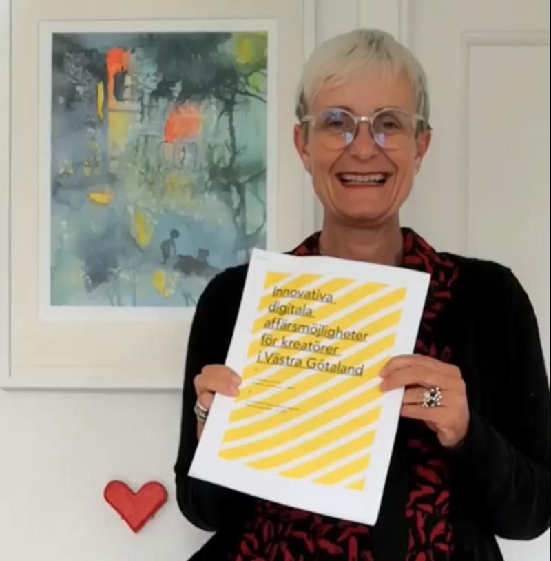 Bilden är saxat från FB och föreställer Hanne Gustafsson på Artefex som beställde rapporten, Karin Persson genomförde.