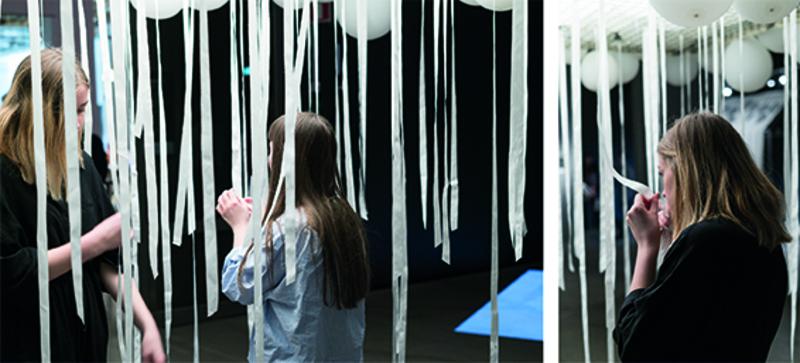 Ett sätt att utforska lukter, genom en installation på Textilmuseet 2017. Foto: Jyoti Kapur