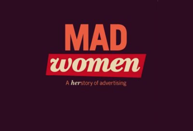 Del av omslaget på boken Mad Women – A herstory of advertising