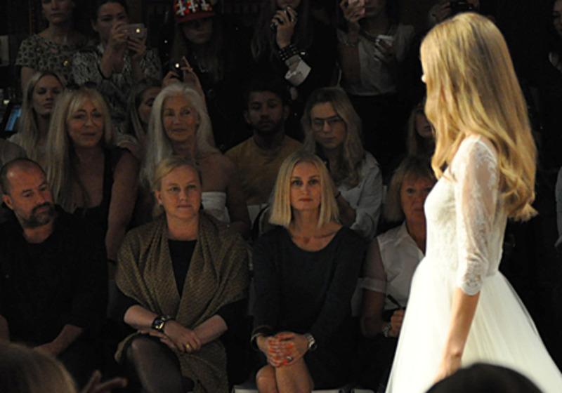 Handelsminister Ewa Björling besökte en modevisning under Mercedes Benz Fashion Week 2013 som del i främjarmånaden. Foto: Karin Nylund/UD