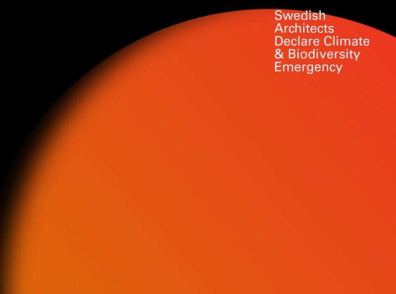 Bild: Screenshot av Swedish Architects Declare Climate & Biodiversity Emergency