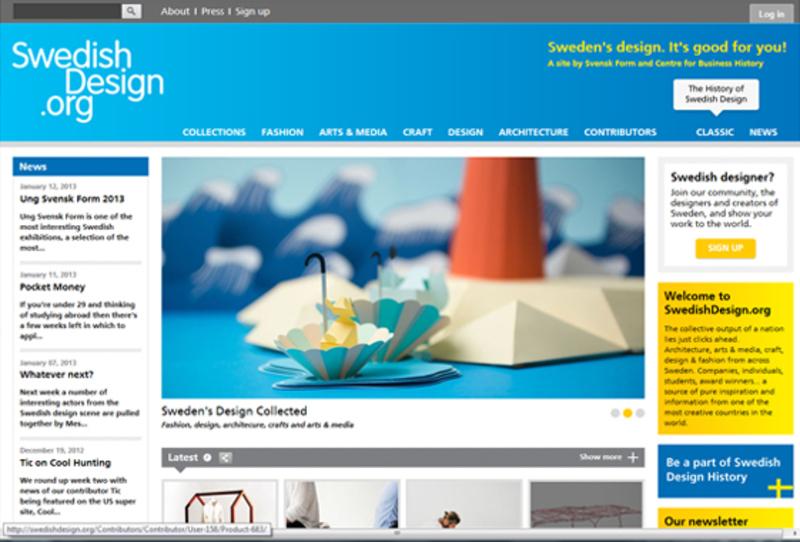 Bild: Screenshot av swedishdesign.org