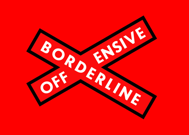 Utställning på Röda Sten Konsthall: Borderline Offensive - Laughing in the Face of Fear