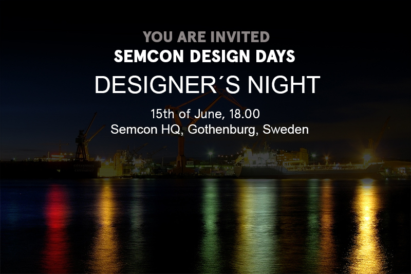 SEMCON DESIGN DAYS 2016 - DESIGNER´S NIGHT -