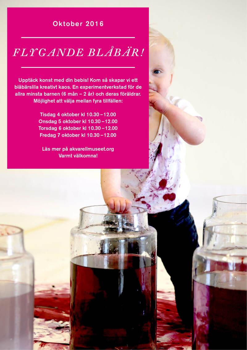 Flygande Blåbär! Workshop för bebisar