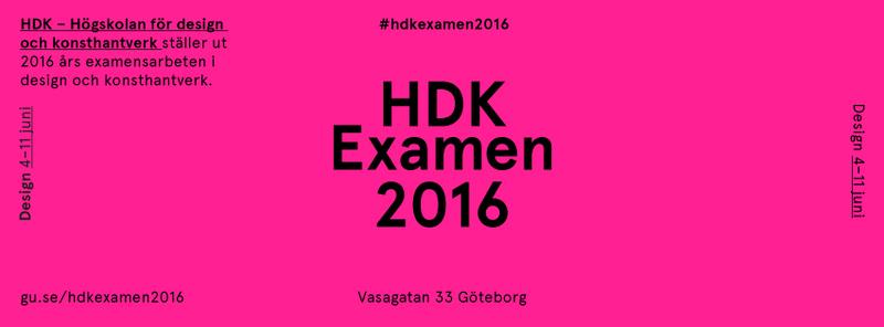 VERNISSAGE HDK Examen 2016: Design