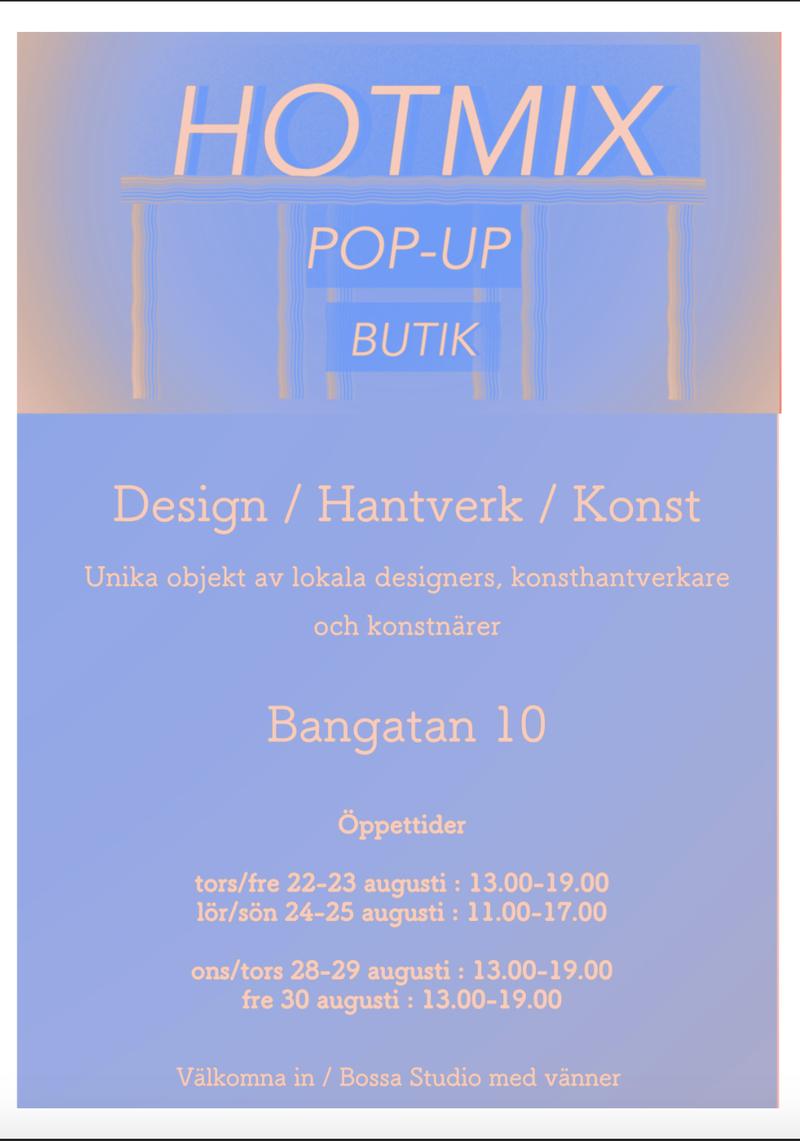 HOTMIX popup-butik