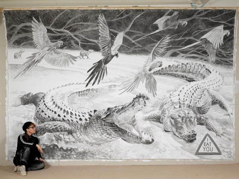 Konsthäng med street artist Stina Folkebrant