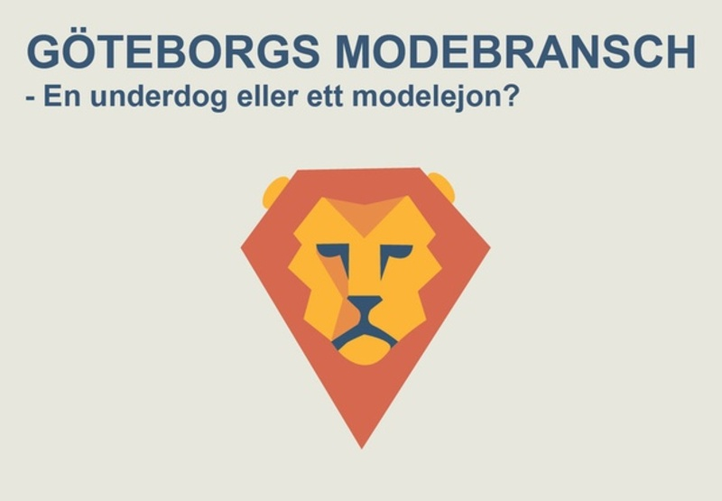 Rapport om Göteborgs modebransch