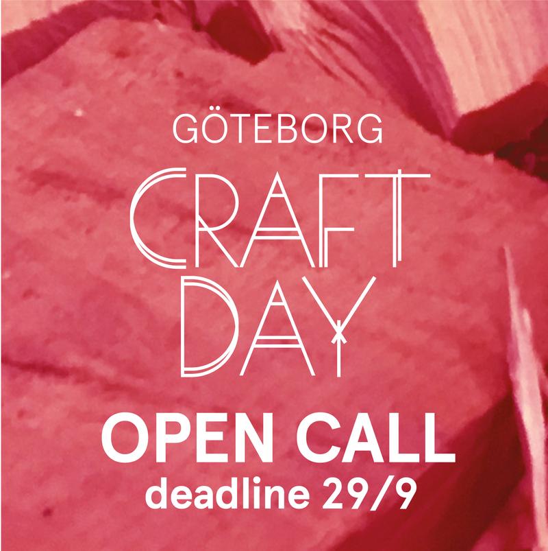 Open call - Presentera din konstnärliga praktik under Göteborg Craft Day