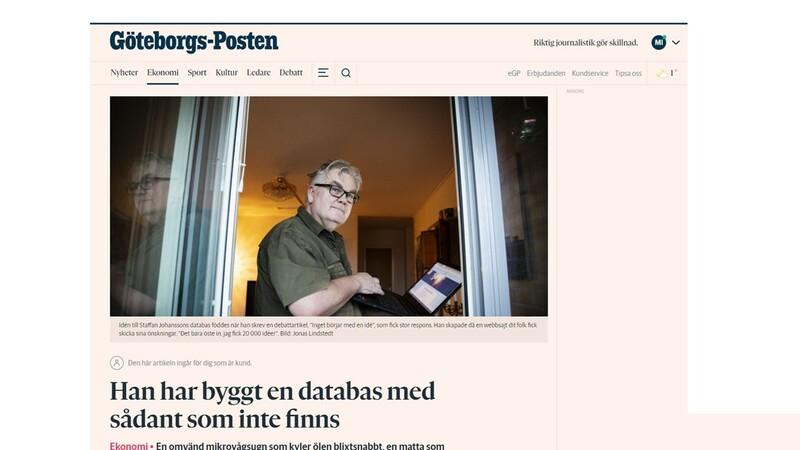 GP skriver om Svensk Kreativitet