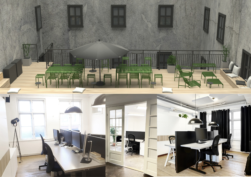 Kontorsrum och kontorsplatser uthyres i kreativt kontorskollektiv.