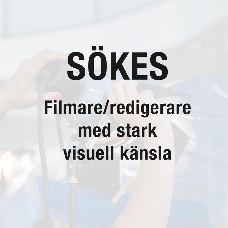 Filmfotograf och redigerare till Medieteknik (50%)
