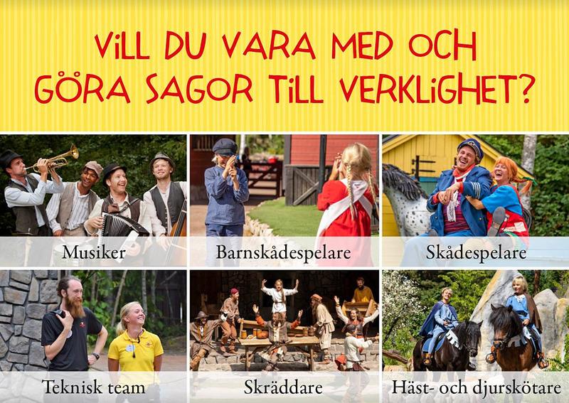 Lediga jobb på Astrid Lindgrens Värld i Vimmerby